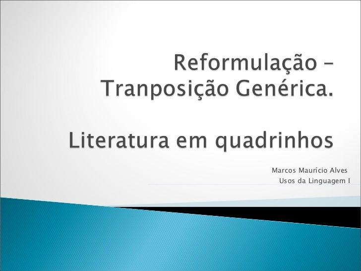 Marcos Maurício Alves  Usos da Linguagem I