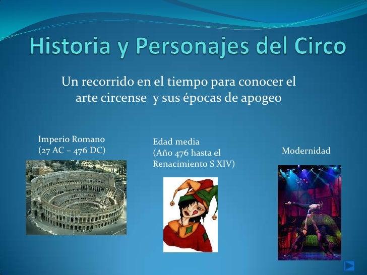 Historia y Personajes del circo