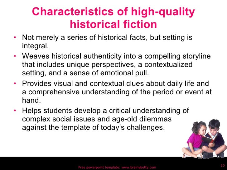 historical fiction book reports middle school