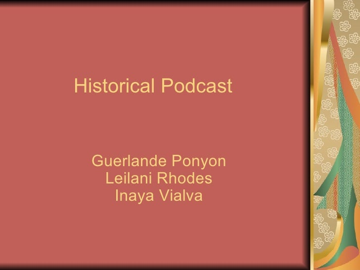 Historical podcast gal