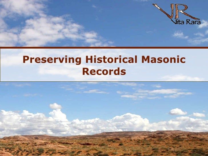 Preserving Historical Masonic Records
