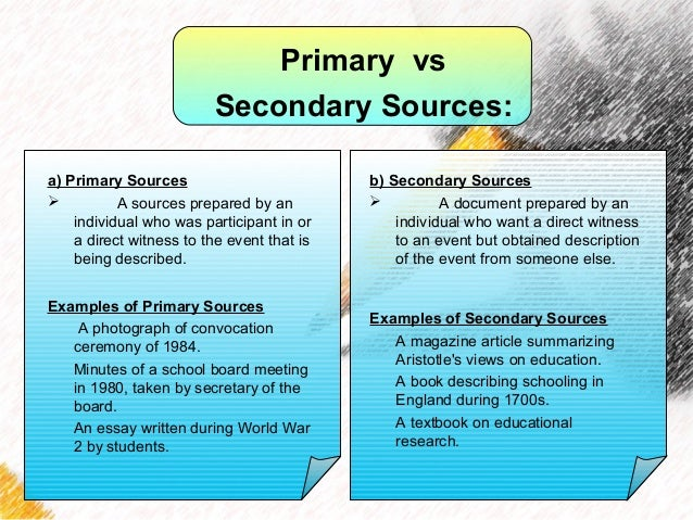 secondary sources in essays What are secondary sources read this lesson to learn about these materials you'll also find out how to determine whether or not a source is.