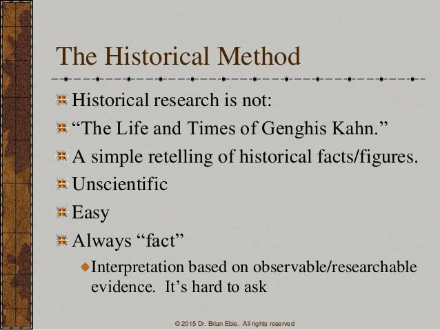 Historical Research Papers