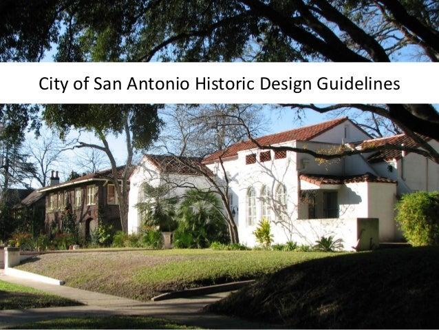 City of San Antonio Historic Design Guidelines