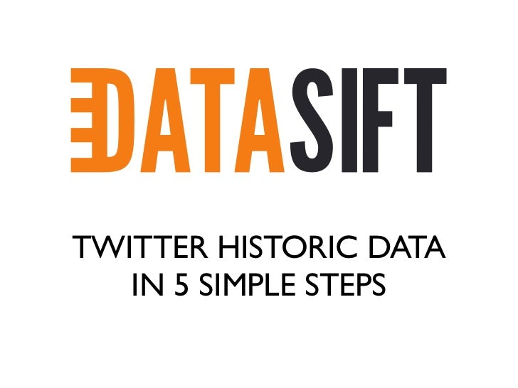 TWITTER HISTORIC DATA   IN 5 SIMPLE STEPS