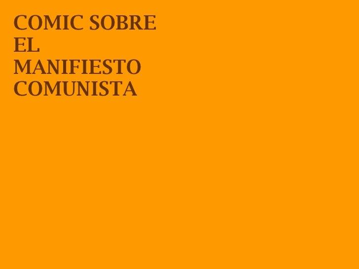 COMIC SOBRE EL MANIFIESTO COMUNISTA