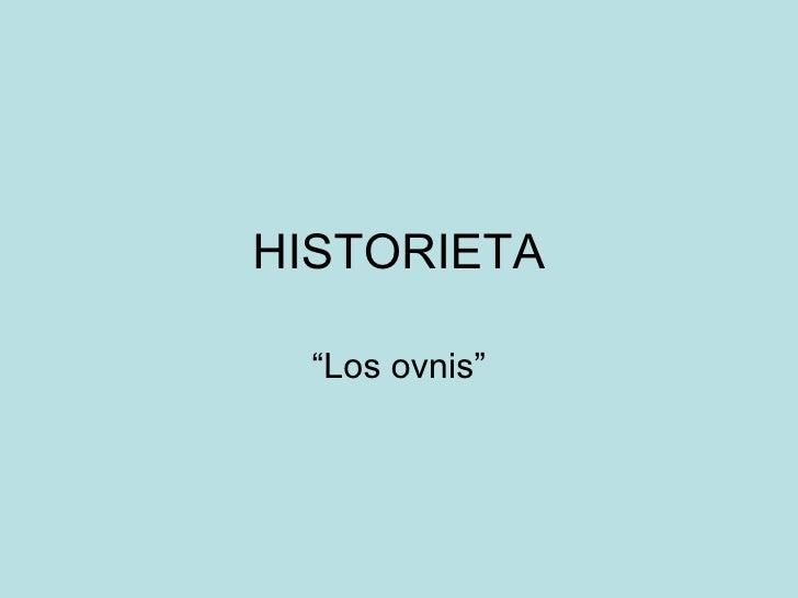 Historieta  Los Ovnis