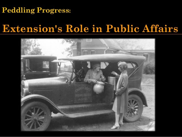Peddling Progress - 1999 UWEX Cooperative Extension Conference Keynote