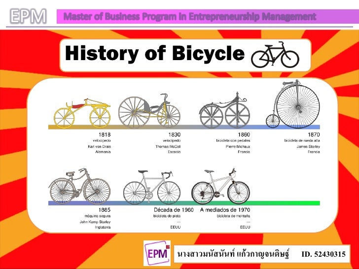 EPM   Master of Business Program in Entrepreneurship Management          History of Bicycle                               ...