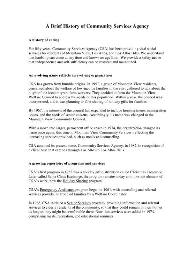 History of CSA Mountain View and Los Altos, CA