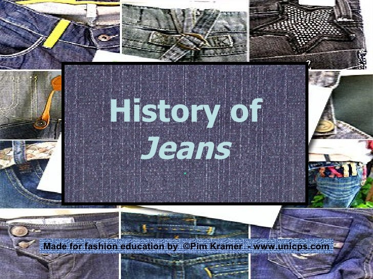 History of  Jeans . Made for fashion education by  ©Pim Kramer  - www.unicps.com