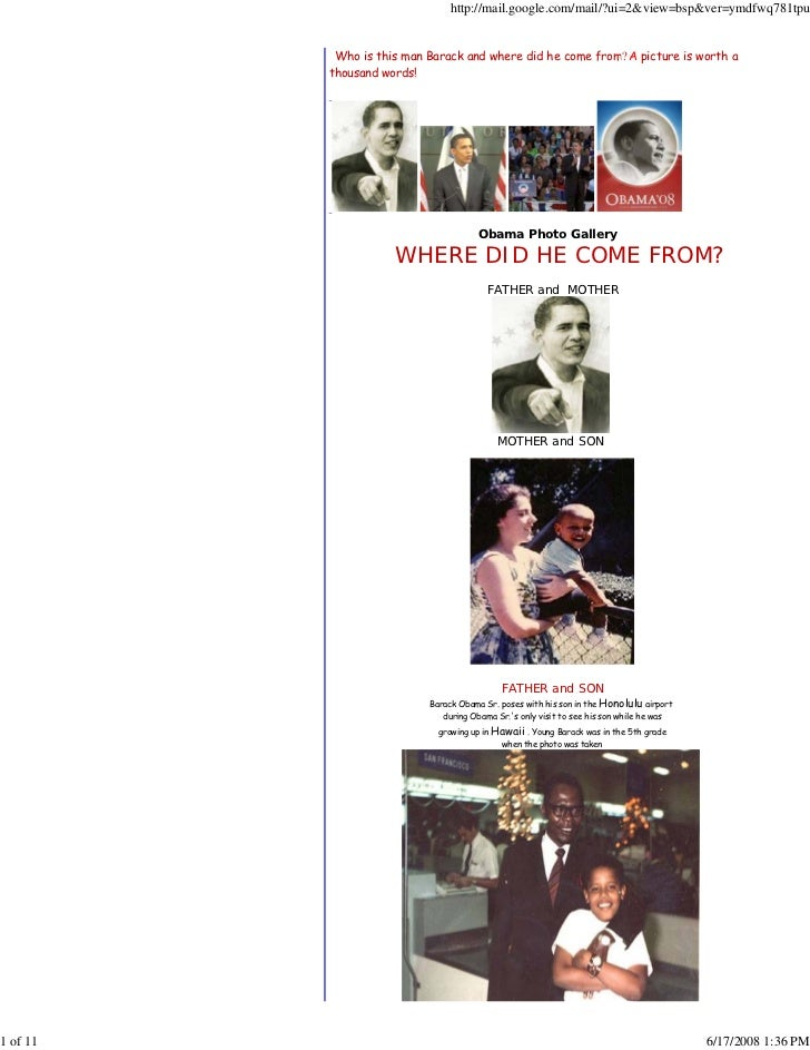 History Of Obama And Pic..