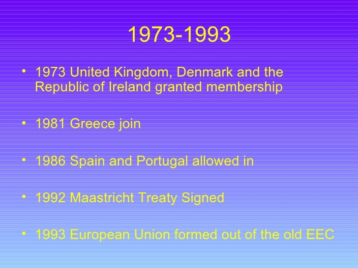 a history of the formation of the european union A history of the uk's eu membership map-945237_1920 1951: european coal  and steel community (ecsc) is founded by the treaty of paris.
