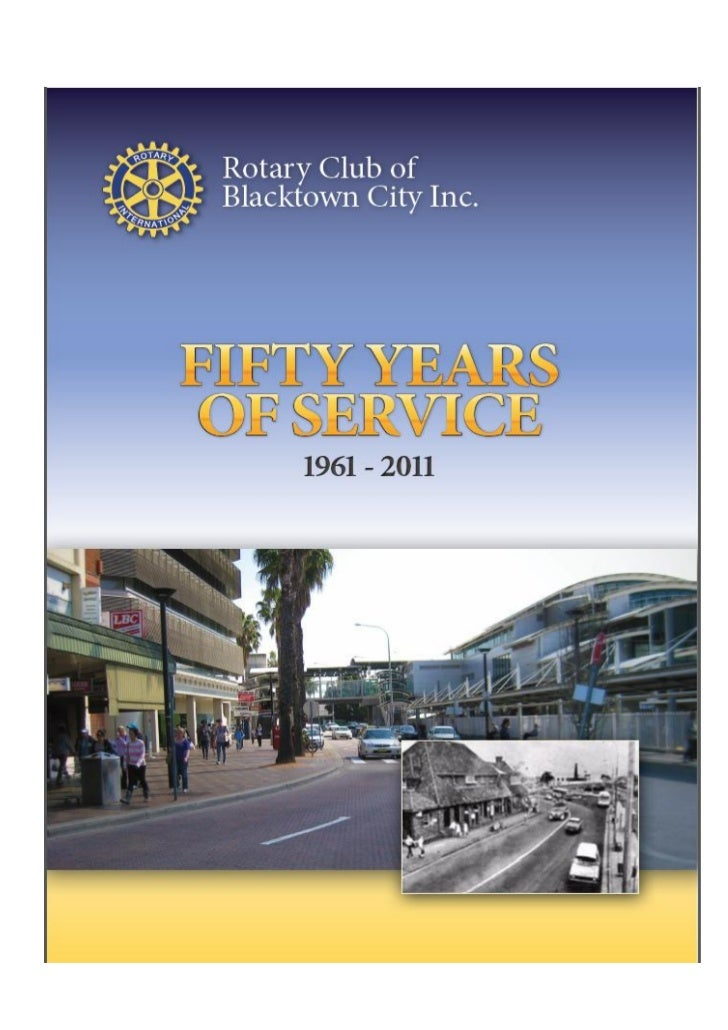 50 Years Rotary Club of Blacktown City