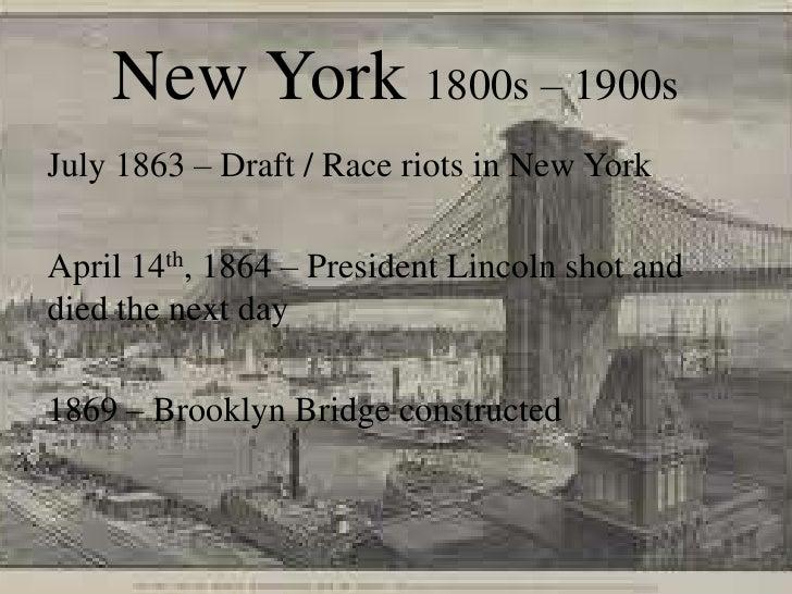 History 141 New York Timeline 1800s 1900s