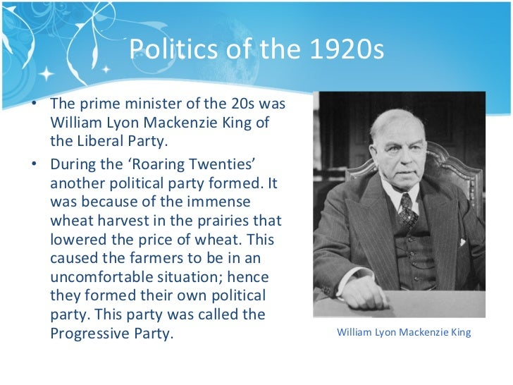 an introduction to the life and politics of mackenzie king Mackenzie king was a goddess to most people, and some he came off as a strange human being king had a lot of goals in his life one important one being national unity king understood and agreed to the whole conscription thing.