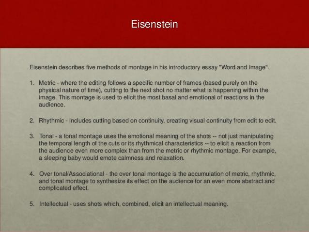 eisenstein essay word and image