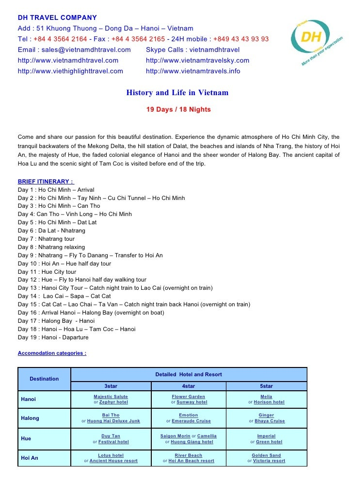 History And Life In Vietnam 19 Days   18 Nights