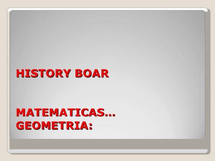 History boar23