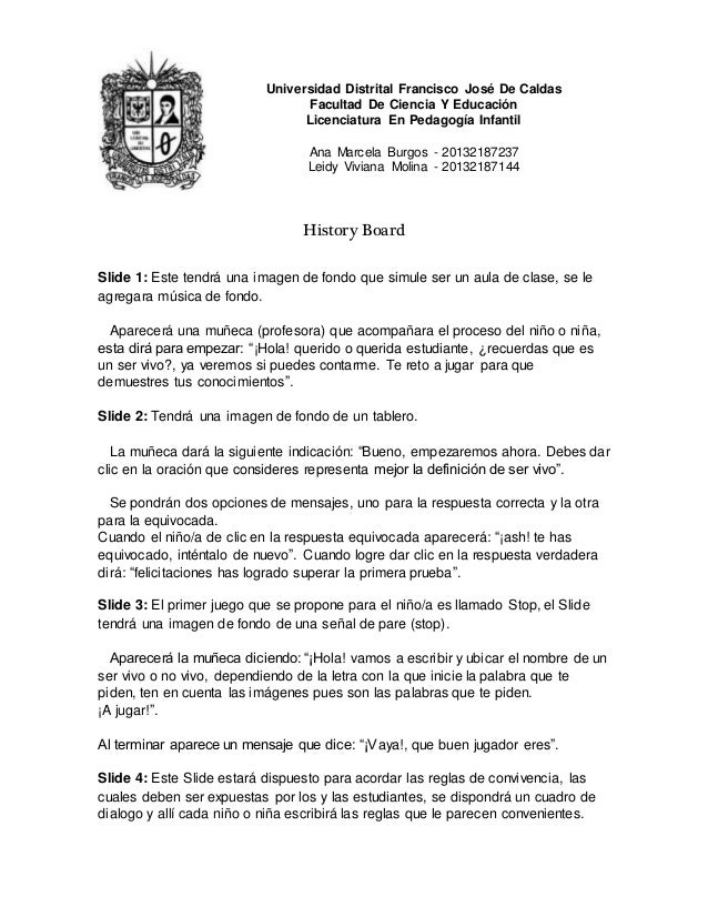 Universidad Distrital Francisco José De Caldas Facultad De Ciencia Y Educación Licenciatura En Pedagogía Infantil Ana Marc...