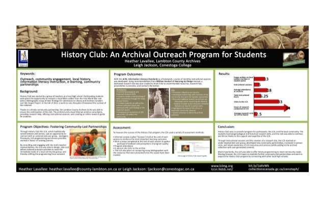 History Club: An Archival Outreach Program for Students