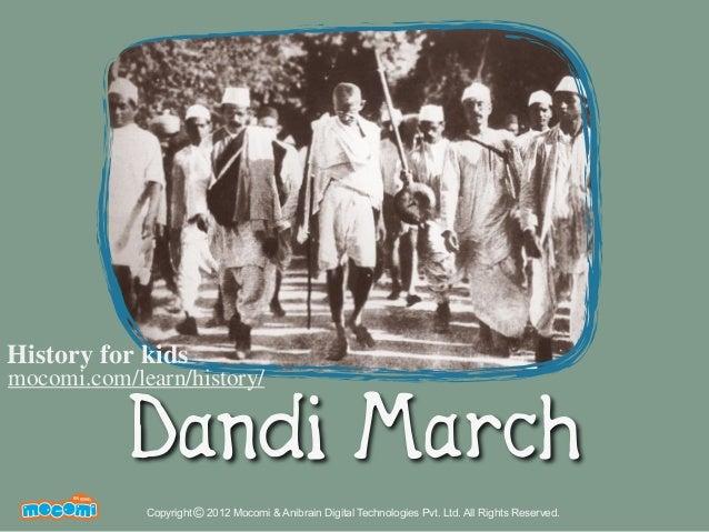 Dandi March - History India – Mocomi.com