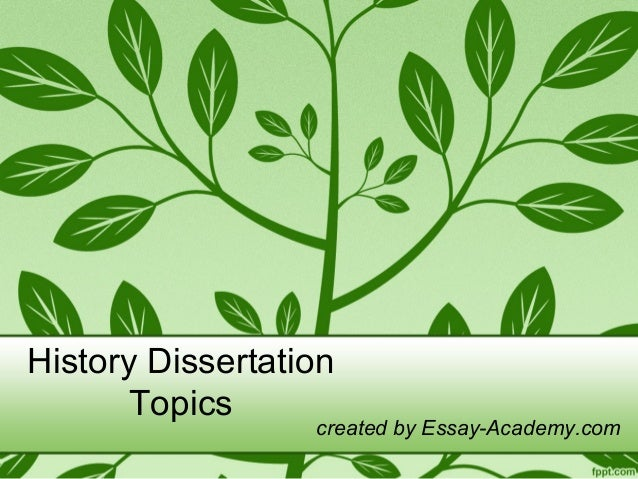 History dissertation titles