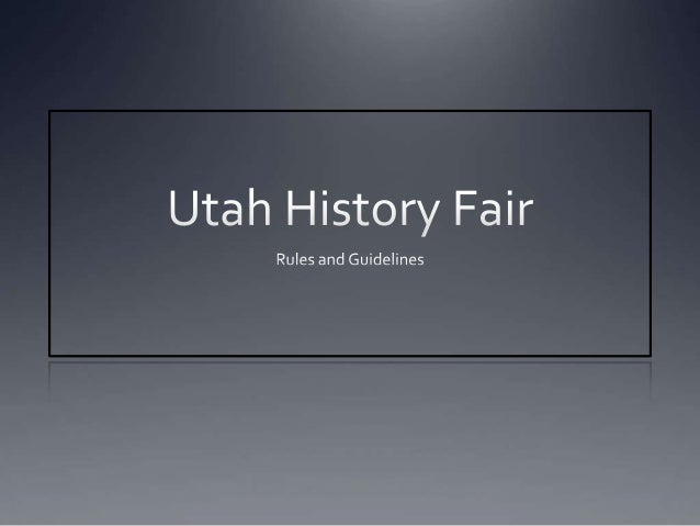 Website If you want more information, please refer to the following  websites:http://utahhistoryfair.weebly.com/www.nhd.o...
