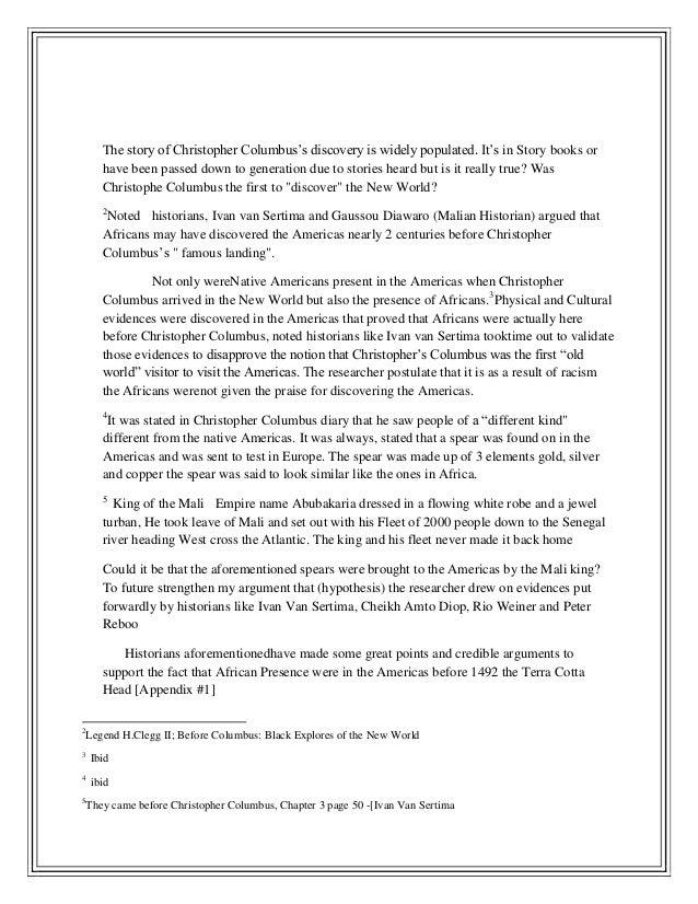 christopher columbus essay villain