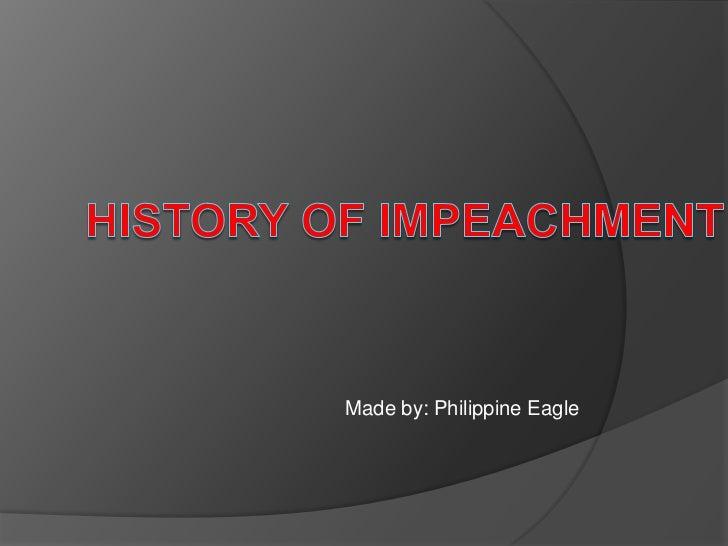 History of impeachment by malik domato