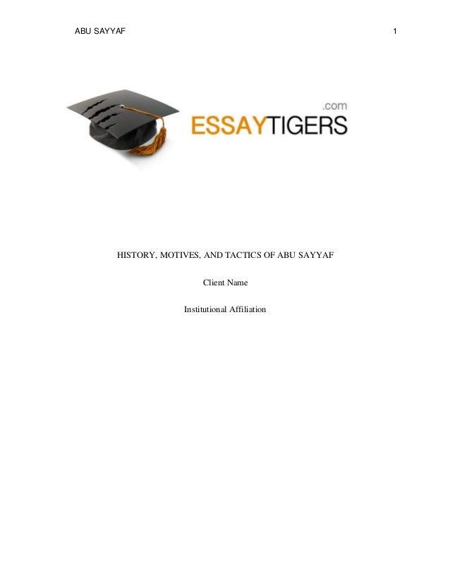 History essay tigers