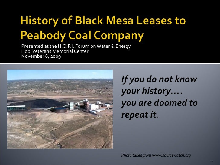 History of Black Mesa Coal Mining
