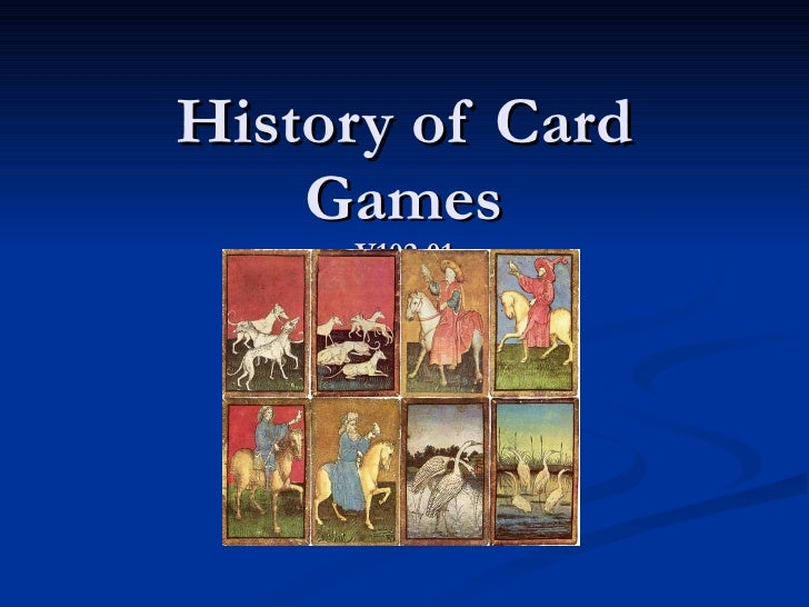 History Of Card Games