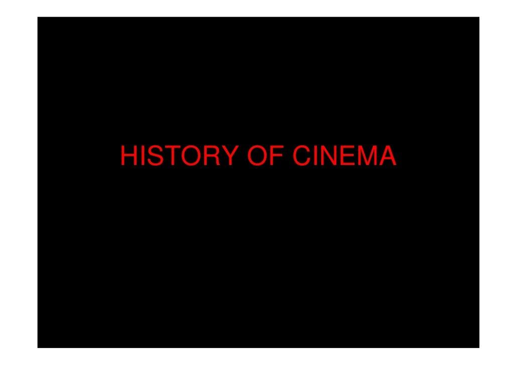 A Very Brief Visual History of Cinema