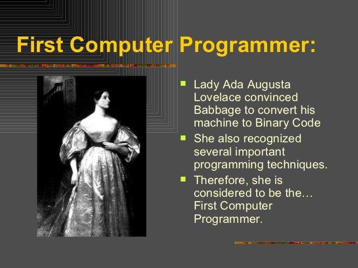 Lady Computer Programmer First Computer Programmer