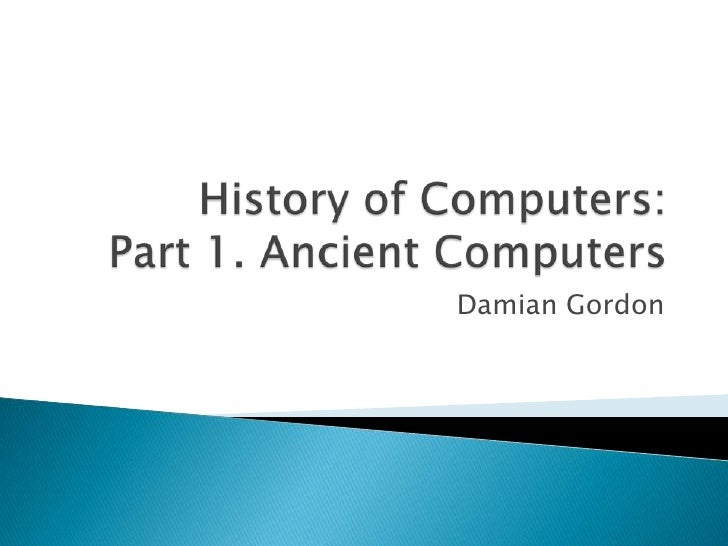 essays history of computers