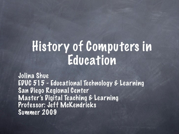 History of Computers in Schools