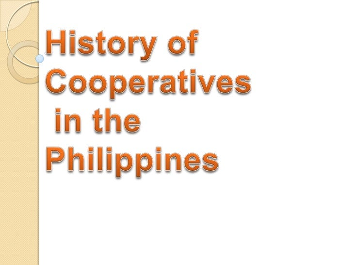 History of cooperatives in the philippines