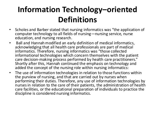 "nursing and computer technology essay Behind the technology scope and standards of practice, describes nursing informatics as integrating ""nursing science, computer and information science."