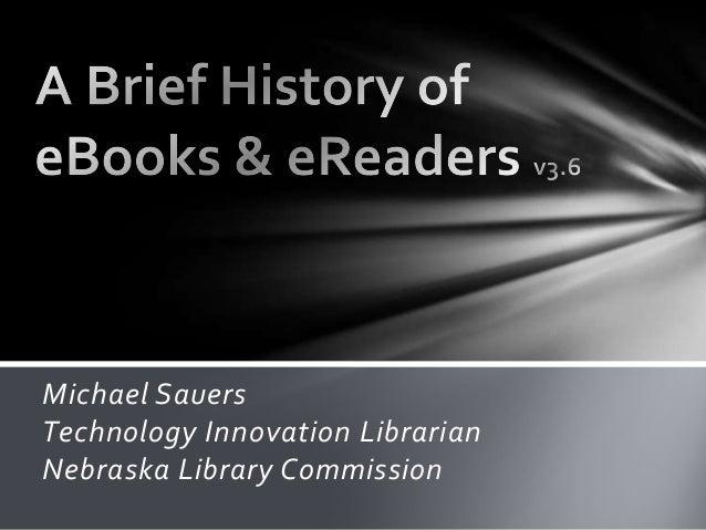 History of eBooks & eReaders v3.6