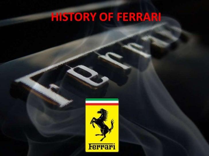 HISTORY OF FERRARI