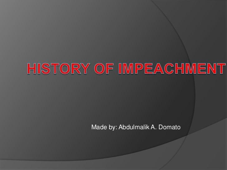 History of impeachment