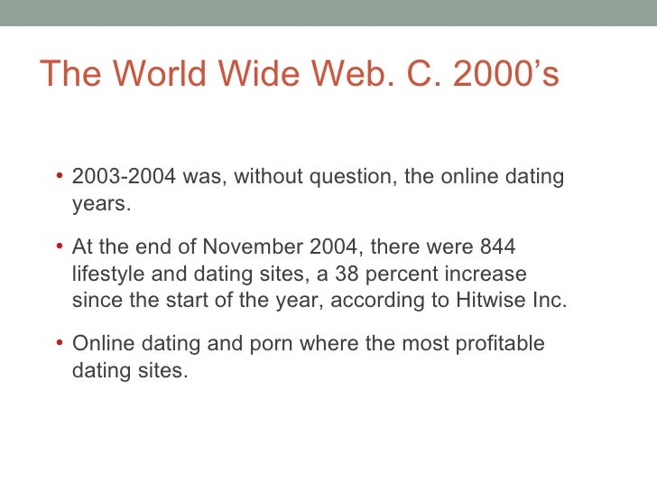 The history of online dating