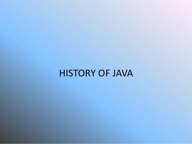 History of java'