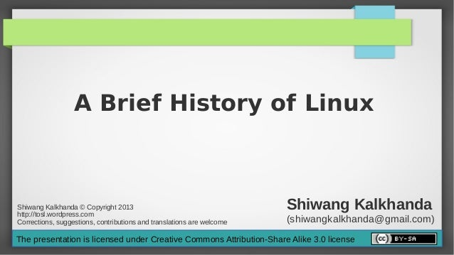History of linux