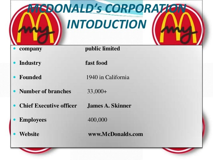 history of mcdonald Learn about mcdonald's history to see how we went from a single restaurant in  1940 to the global chain we are today.