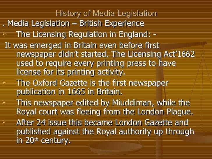 History of media legislation