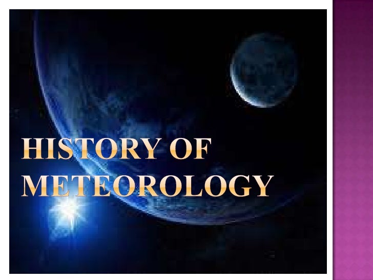 History of meteorology [recovered]