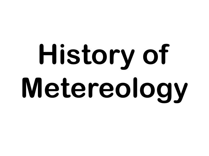 History of metereology