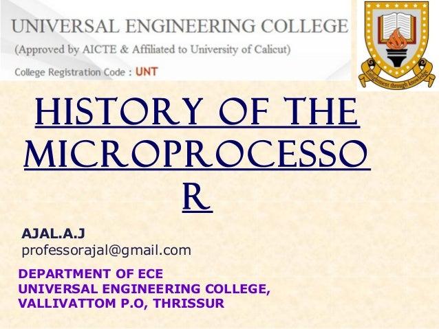 History of processors